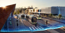 Más capacidad y menos ruido: Volvo presenta un autobús eléctrico articulado