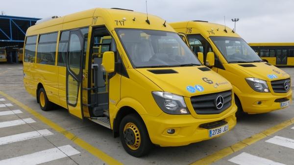 Los dos vehículos reconvertidos para transporte de personas con movilidad reducida.