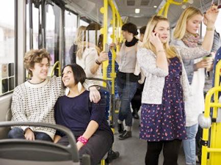 Viajar en transporte público, bueno para la salud