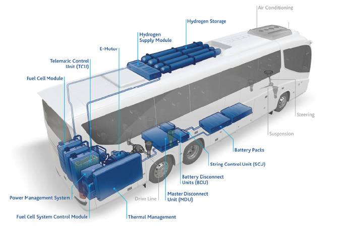Palma contará con cinco buses propulsados por hidrógeno verde