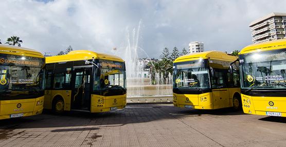 Guaguas Municipales incorpora 15 nuevos vehículos articulados de 18 metros