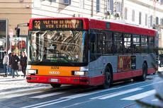 Uno de los autobuses urbanos de Milan