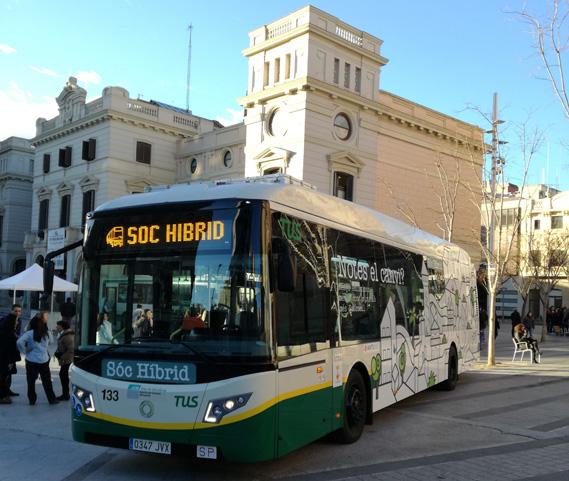 Trasportes Urbanos de Sabadell incorpora a su flota el modelo hibrido Veris.12 de Vectia