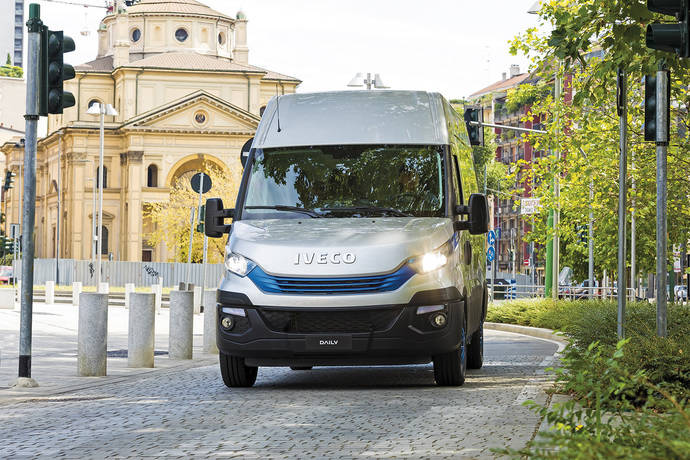 Una Iveco Daily Hi-Matic de gas natural.