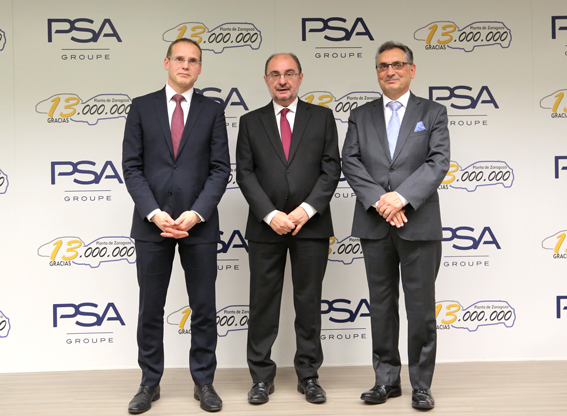 Fábrica de PSA en Zaragoza alcanza 13 millones de unidades fabricadas