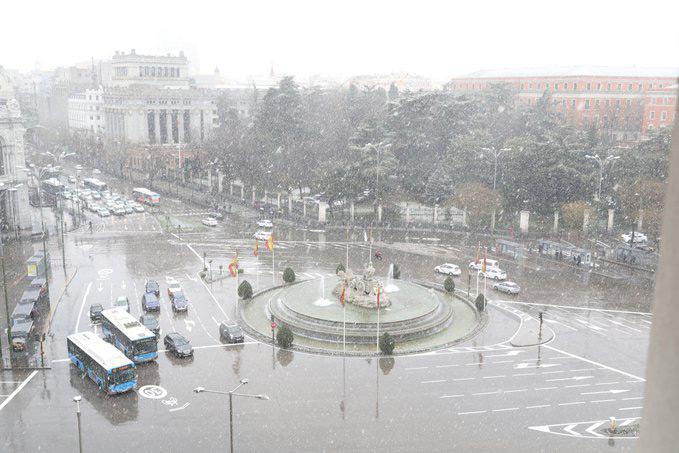 EMT Madrid recupera el servicio poco a poco tras la nevada