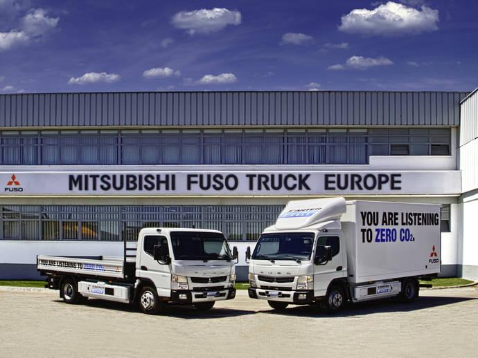 Los camiones Fuso Canter E-Cell demuestran en Portugal un 64% de ahorro en los costes de operación