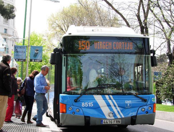 Notable alto para la calidad del servicio de EMT Madrid