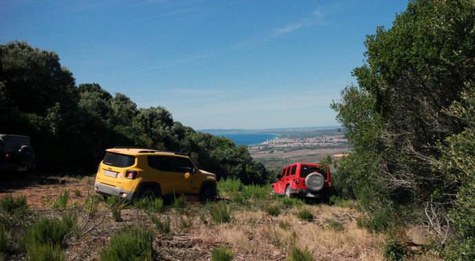 Jeep y Autonomy en el parque regional de la Maremma