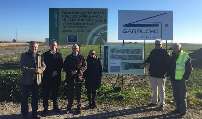 Obras de mejora en carretera une Rota y Jerez de la Frontera