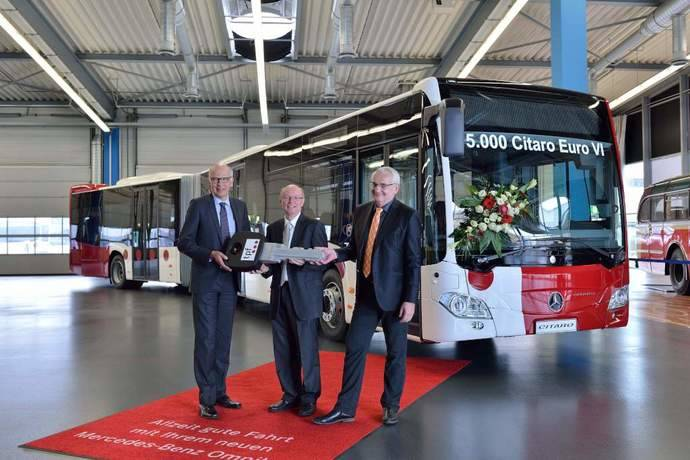 Entregada la unidad 5.000 del Mercedes-Benz Citaro Euro VI