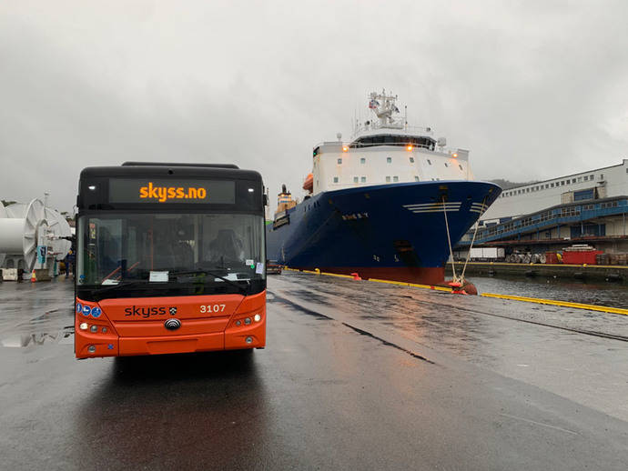 Bergen recibe sus primeros autobuses eléctricos, de Yutong