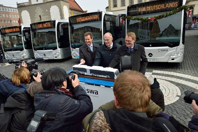 Doce Mercedes-Benz con propulsión a gas natural para Stadtwerke