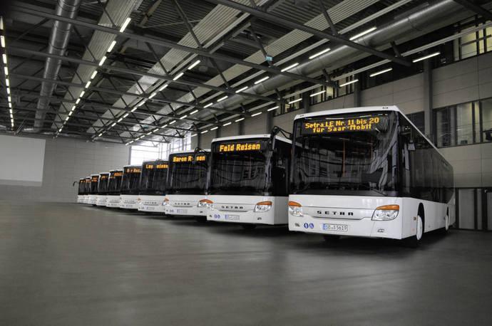 Pedidos a gran escala de autobuses de piso bajo Setra