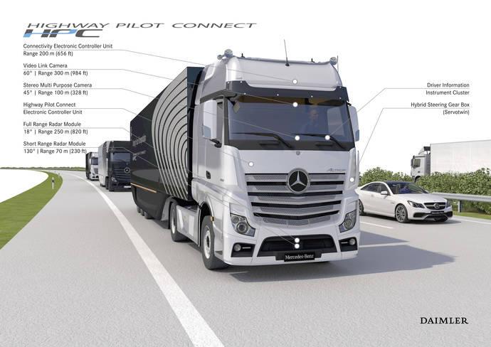 Daimler Trucks está conectando sus camiones con internet, ya son unos 365.000 en todo el mundo
