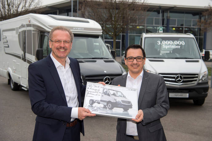 Unidad tres millones de la Sprinter va a Hymer, fabricante de autocaravanas