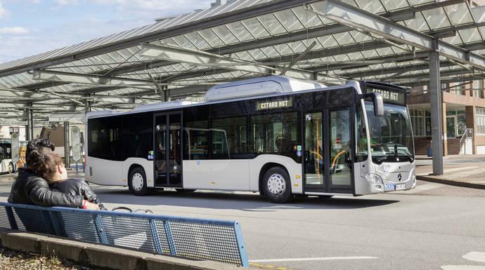 Citaro, el autobús verde de Mercedes Benz, dará servicio de enlace en el Salón IAA