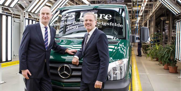 La fábrica de Mercedes-Benz Vans en Ludwigsfelde celebra su 25 aniversario por todo lo alto