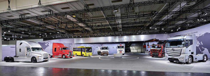Daimler presentó sus nuevos productos procedentes de todo el mundo