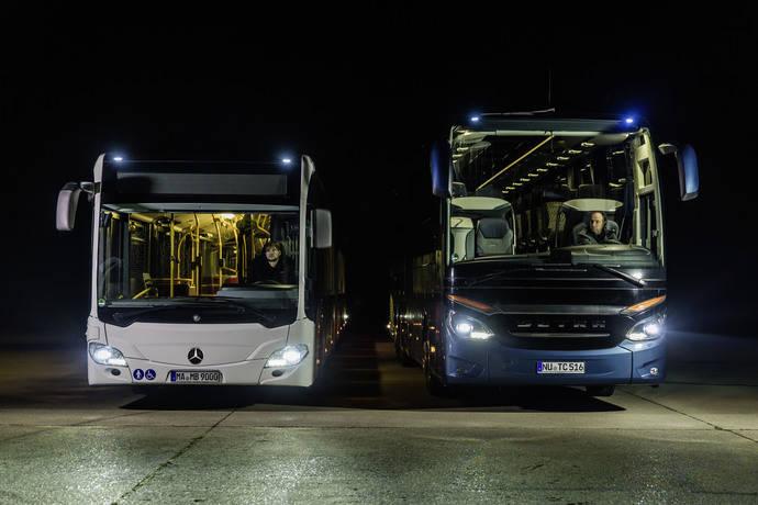 Faros LED para autocares Setra y los autobuses urbanos Mercedes-Benz Citaro