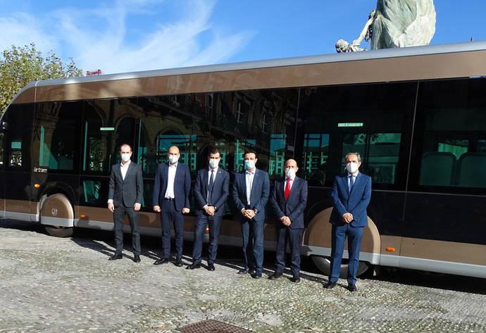 Bizkaibus realiza su segunda prueba con un autobús eléctrico Irizar