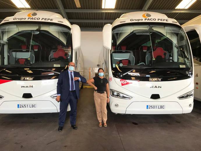 Autobuses Paco Pepe renueva su apuesta por el deporte malagueño