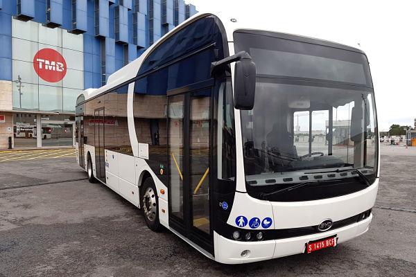 El autobús urbano eléctrico de BYD está a prueba en Barcelona