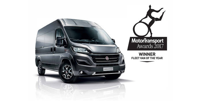 """Ducato elegido """"Fleet Van of the Year 2017"""" en Gran Bretaña"""