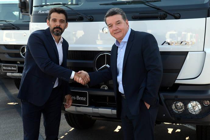 Mercedes Brasil entrega más de 500 camiones a la empresa Raízen