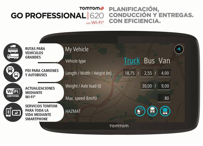 Nuevo TomTom Go Professional para conductores profesionales