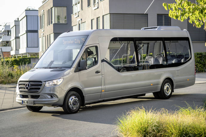 Nuevos minibuses de Mercedes-Benz para el lanzamiento en la Feria IAA