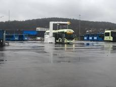 Keolis y Volvo presentaron un autobús eléctrico de 12 metros de largo en el depósito de Keolis en Gotemburgo.