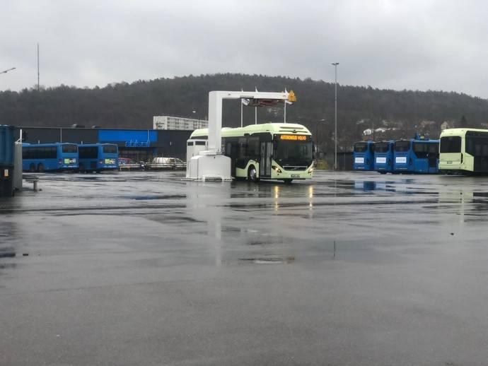Volvo Buses presenta una solución autónoma para estaciones de autobuses