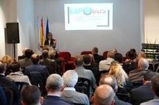 Ethel Vázquez en la jornada técnica 'Situación del transporte en Galicia', de Expobus.