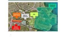 Plano de situación de la intermodal Fuente de San Luis.