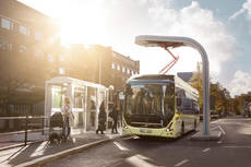 Volvo 7900 electric charging.