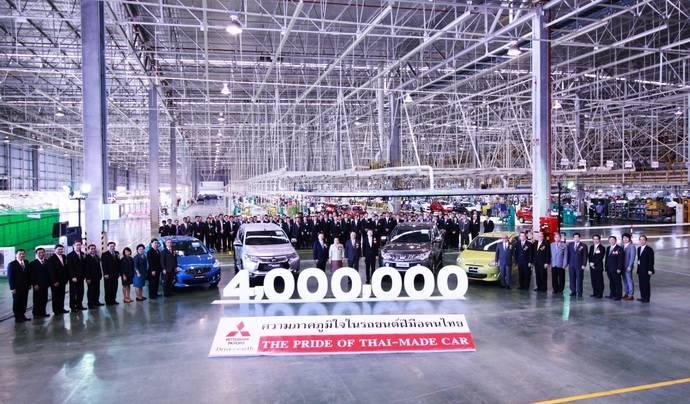 Mitsubishi produce la unidad cuatro millones en Tailandia