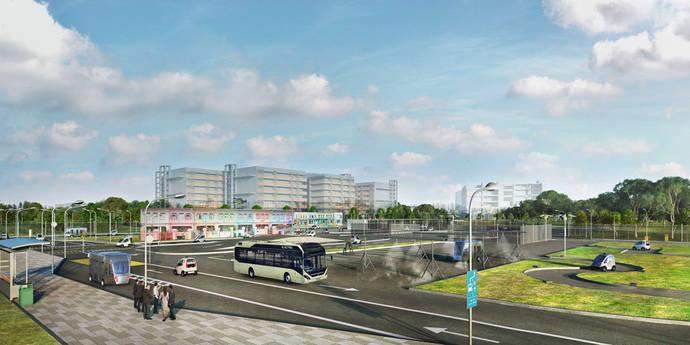 Volvo y NTU inician pruebas con buses eléctricos autónomos en Singapur