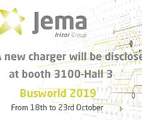 Jema presenta su nueva generación de cargadores en Busworld 2019