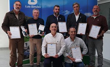 Siete conductores de Luís Simões reciben el Diploma de Honor IRU