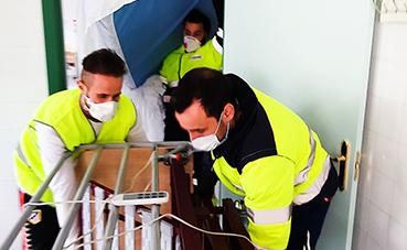 Transfesa colabora en el transporte de material sanitario