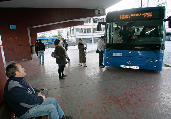 Plan de acceso de interurbanos al centro de A Coruña, en noviembre