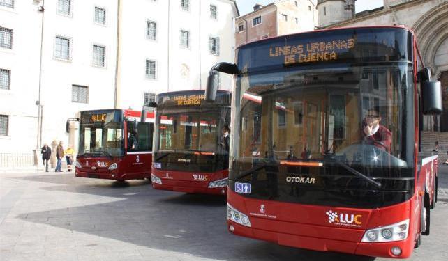 Modificaciones en las líneas 1 y 2 de los autobuses urbanos de Cuenca el pasado fin de semana