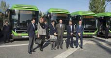 Presentación de los autobuses.