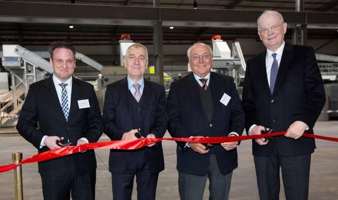 Inauguración de las nuevas instalaciones de Rhenus PET Recycling en Hamburgo.