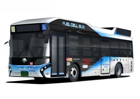 Toyota entrega un autobús de pila de combustible a la ciudad de Tokio
