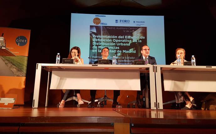 Momento de la jornada sobre distribución urbana organizada por Citet y el Ayuntamiento de Madrid.