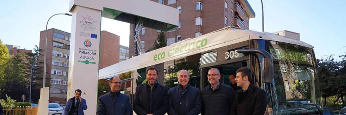 Valladolid es la primera ciudad en España con una línea de autobús electrificada