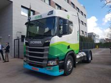 Presentación del motor de gas natural de Scania.