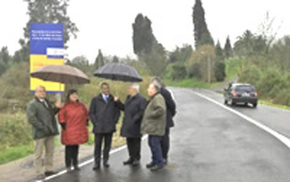 Asturias repara el tramo viario que une El Regueral y Zanzabornín, en Carreño